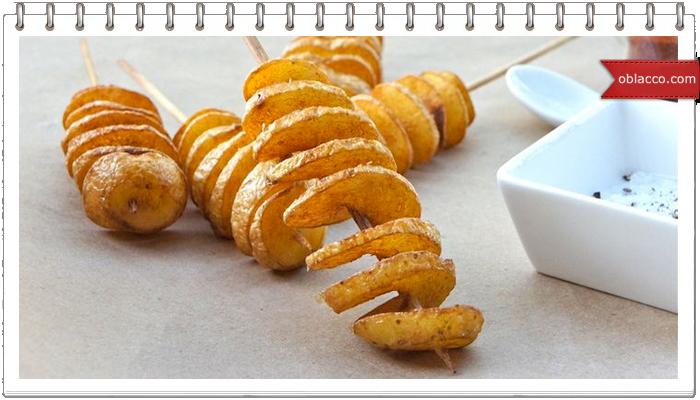 Спиральная картошка на палочке