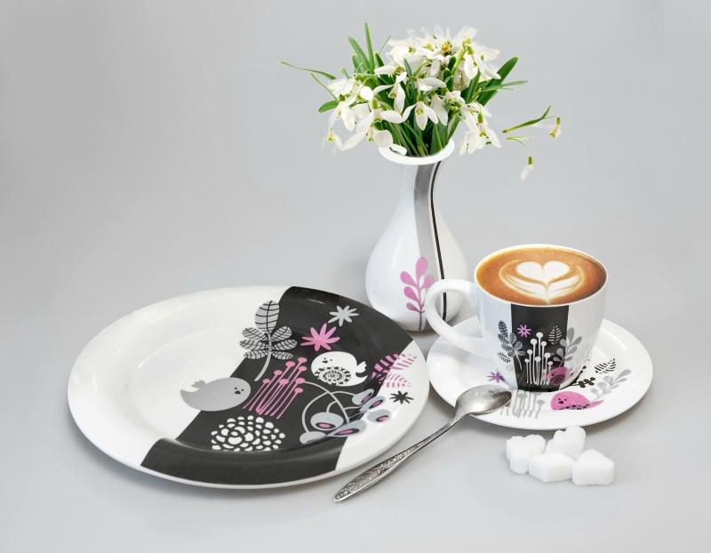 фарфоровая посуда из Розовой коллекции от i-decor
