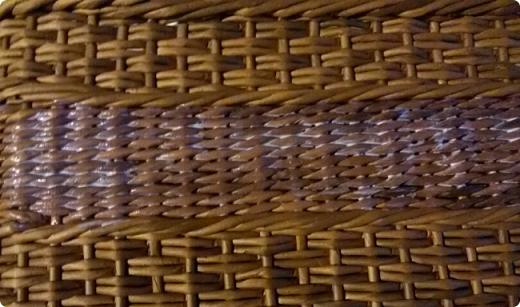 декупаж на плетеной поверхности