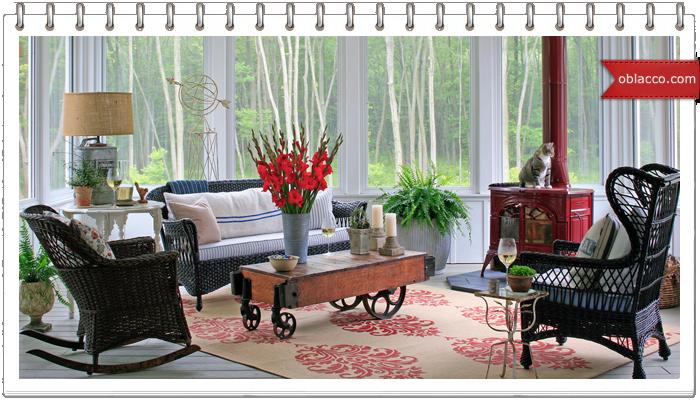 Плетеная мебель - теплый интерьер