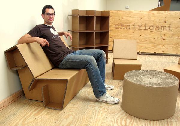 Своими руками из картона кресло