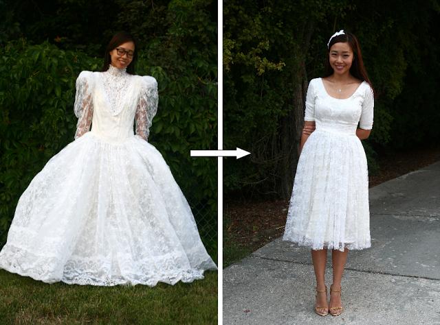 Переделка свадебного платья своими руками