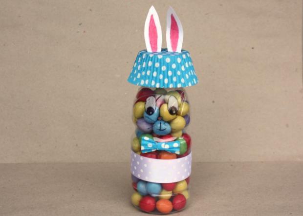 пасхальный кролик из бутылки