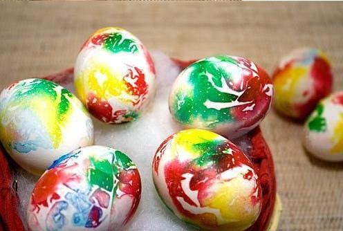 Декоративное окрашивание яиц, мозаика