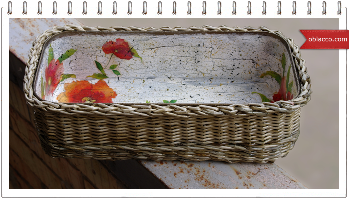 Сундук плетеный из бумаги, этапы работы