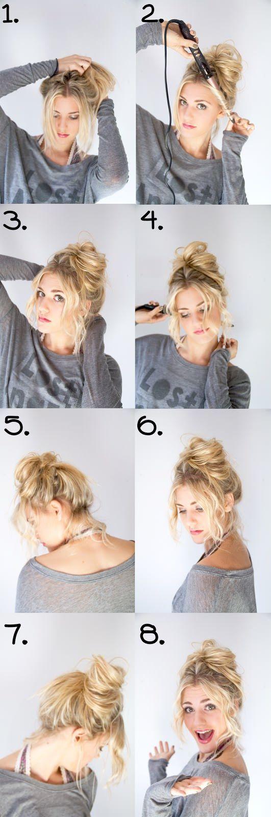 Как сделать прическу небрежные волосы 936