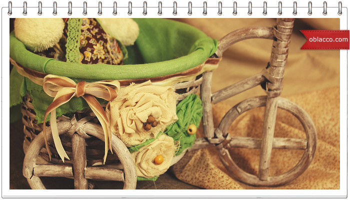 Как сделать велосипед-кашпо из газетных трубочек
