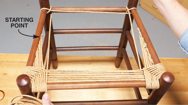 Плетеная мебель своими руками из каната 87