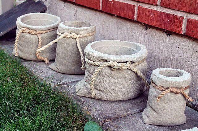 Декор из цемента для сада