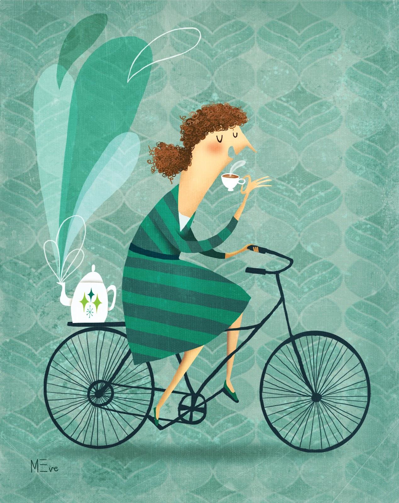 велосипед кофе