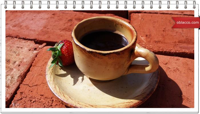 Кофе с клубникой