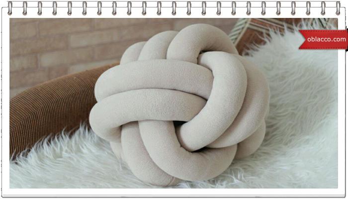 Диванные подушки-узлы своими руками