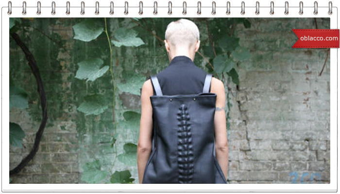 Необычная концепция кожаных сумок, плюс мини МК