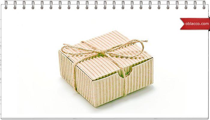 Подарочная коробка из гофрокартона