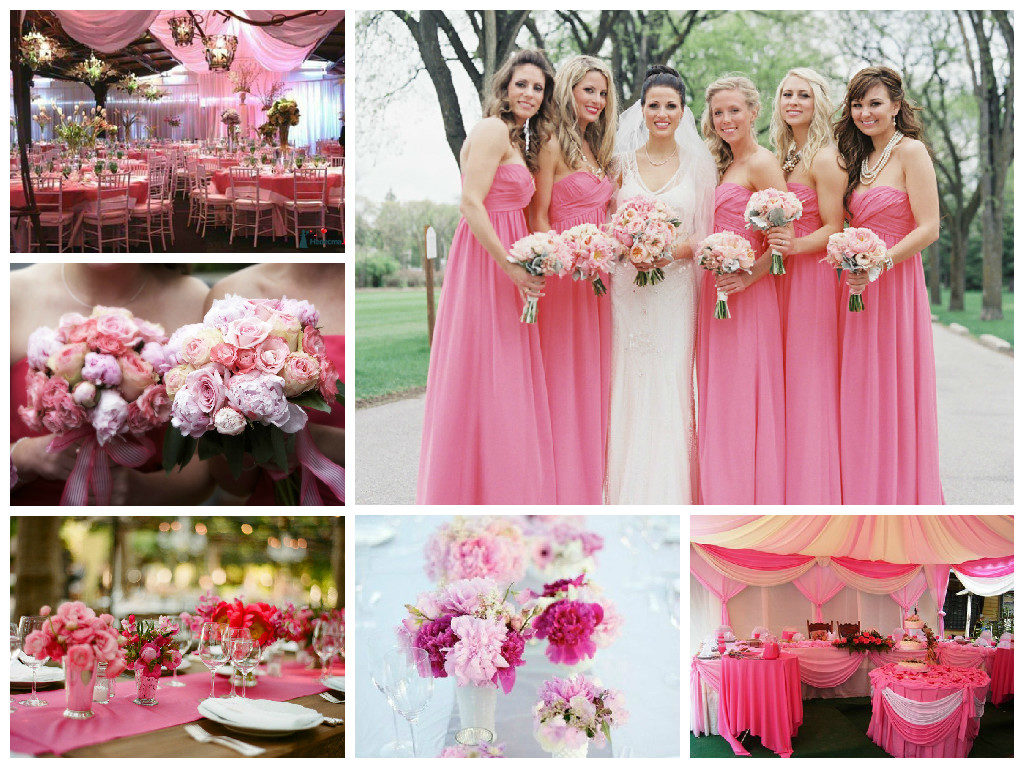 розовая свадьба декор