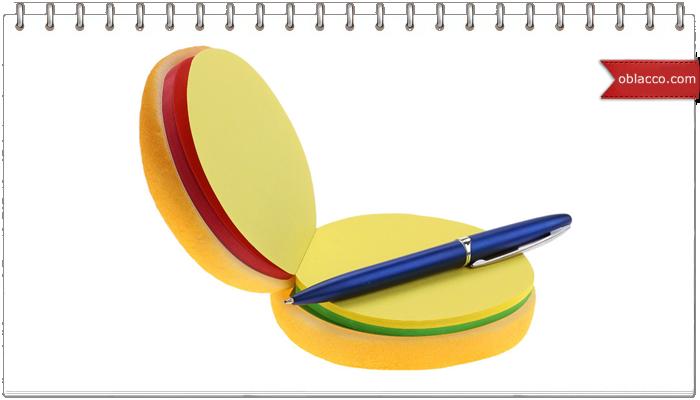 Блокнот-чизбургер и насадки на ручки своими руками