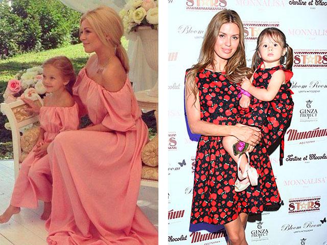 Одинаковые платья дочь и мама
