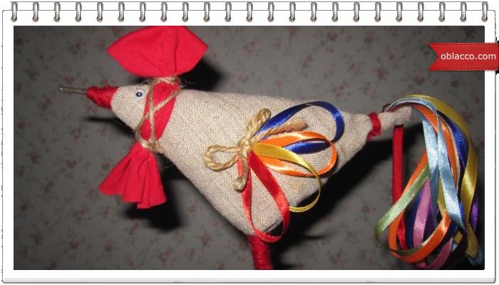Модульная игрушка Петух - символ 2017 года. МК