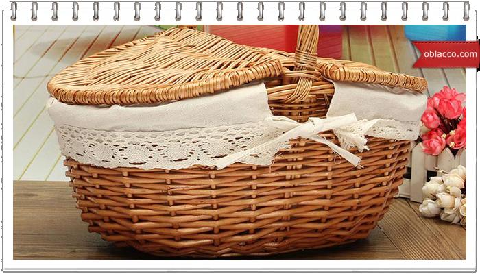 Как сплести корзинку для пикника из бумажных трубочек