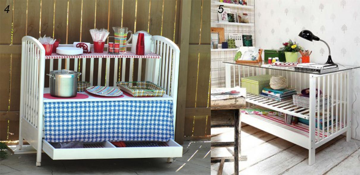 кухонные стол из детской кроватки