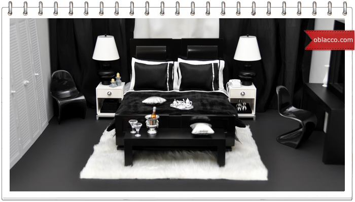 Белый танец чёрной мебели
