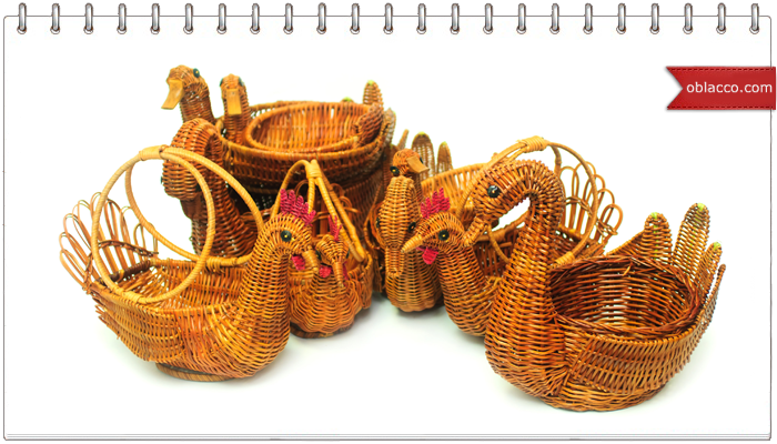 Корзинка-лебедь. Плетение из бумажной лозы
