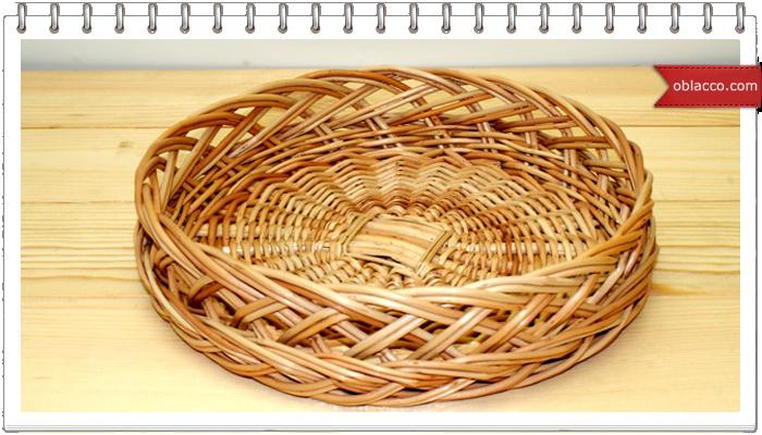 Тарелка-хлебница из бумажных трубочек, ажурная