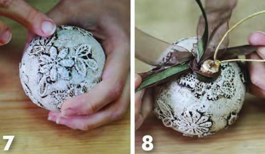 Игрушки на елку своими руками шары