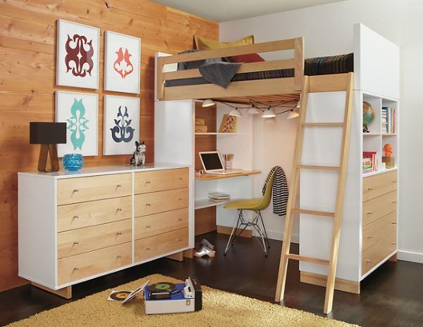 стильная кровать чердак для подростка