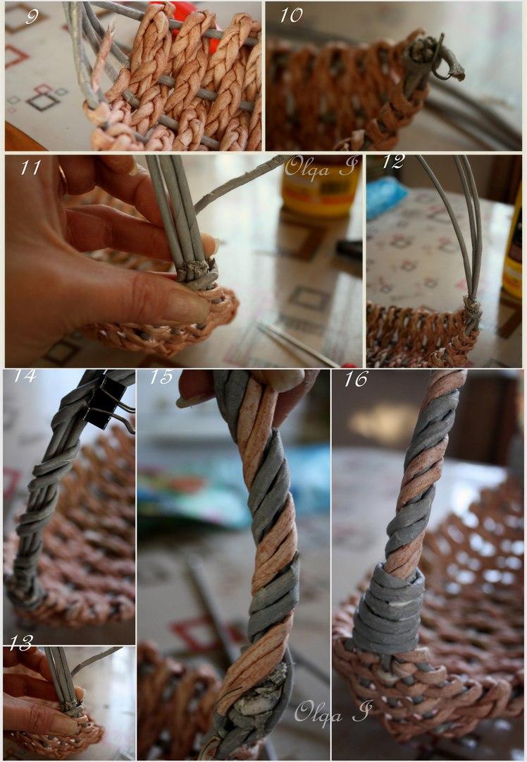 Потрясающая корзинка, плетеная из косичек