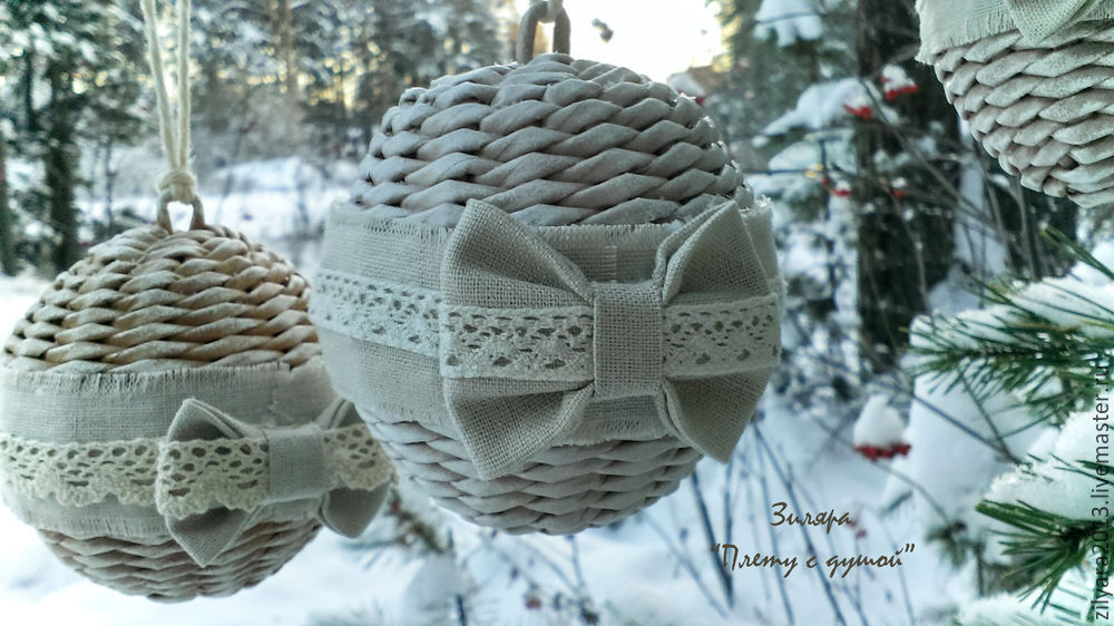 шары на елку своими руками