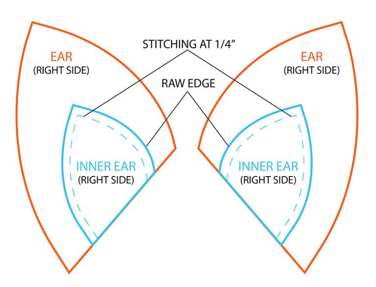 Как из картона сделать уши лисы