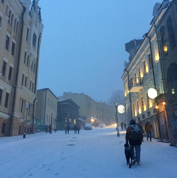 киев снег 2016