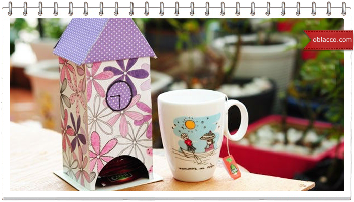 Чайный домик из бумажных трубочек
