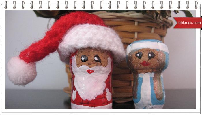 Дед Мороз из винных пробок