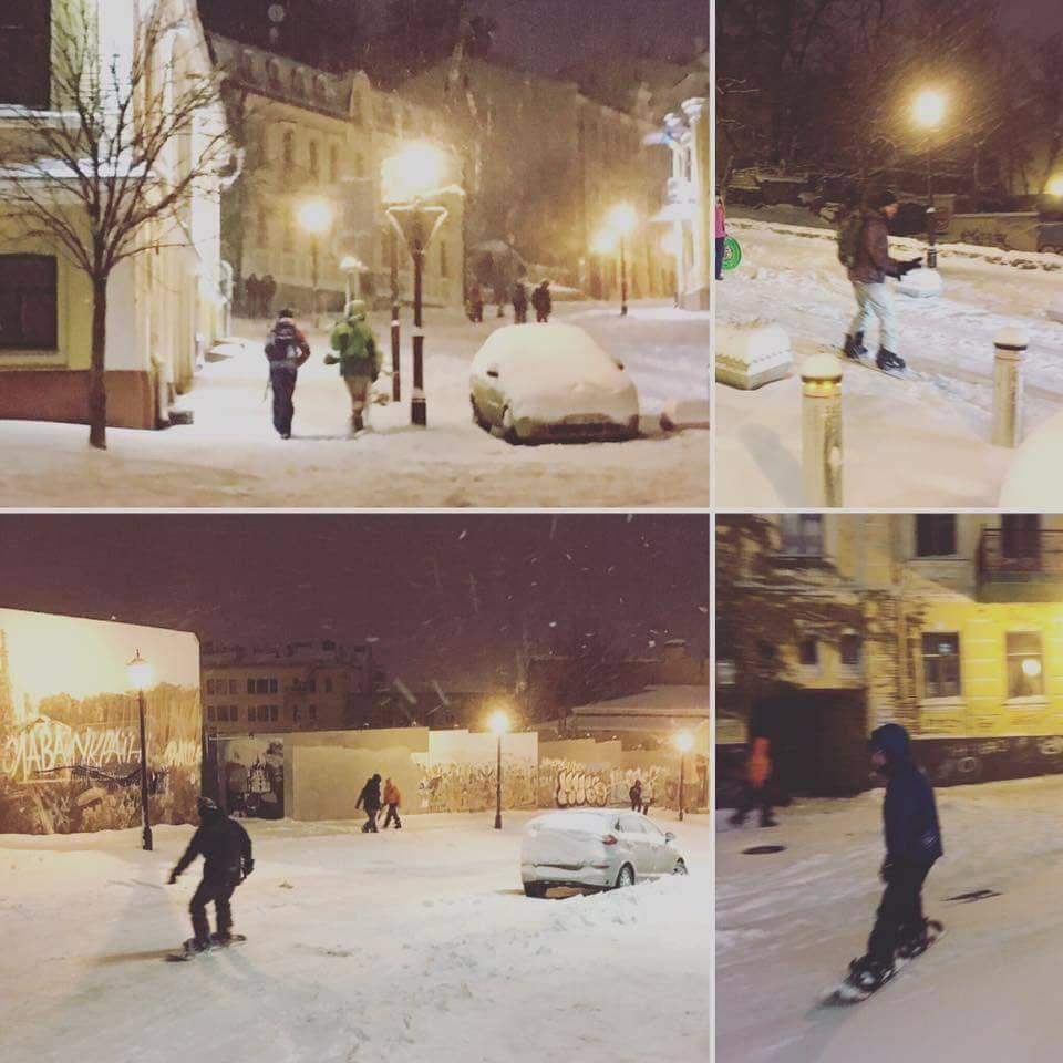 снег киев андреевский спуск