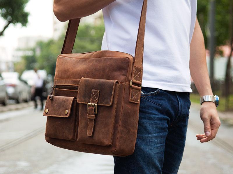 Мужские сумочки через плечо своими руками