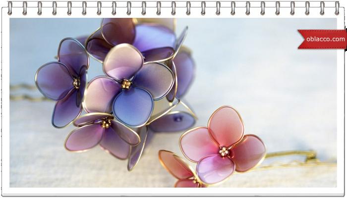 Цветы из витражной краски