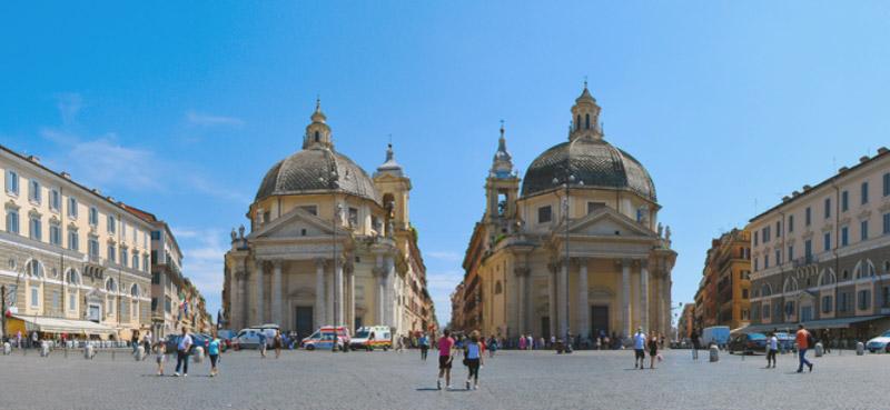 Piazza del Popolo. Народная площадь