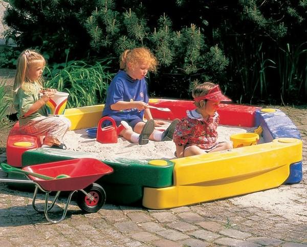 Пластиковая песочница для детской площадки