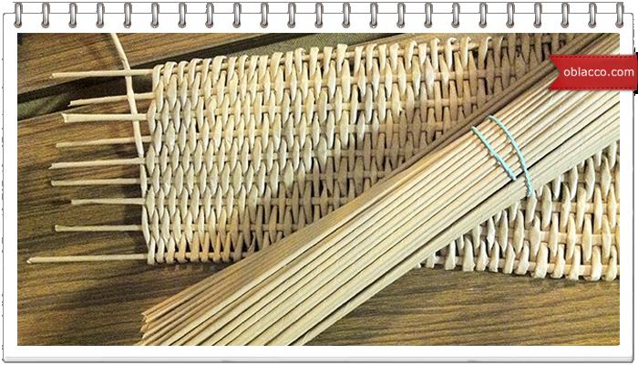 Донышко в виде ромба ситцевым плетением + МК листика