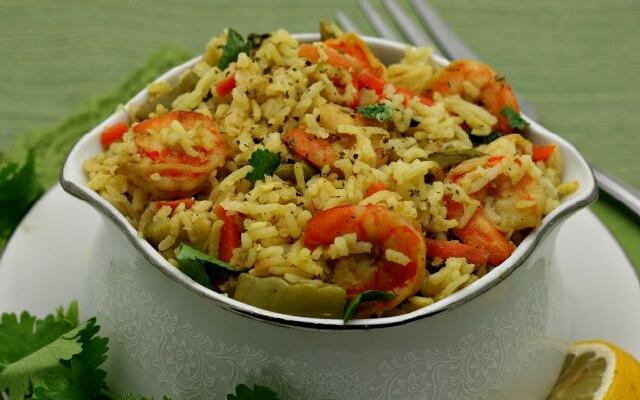 рецепт салата с креветками