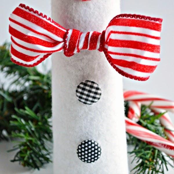 Подсвечники-снеговики к Новому году. Мастер класс