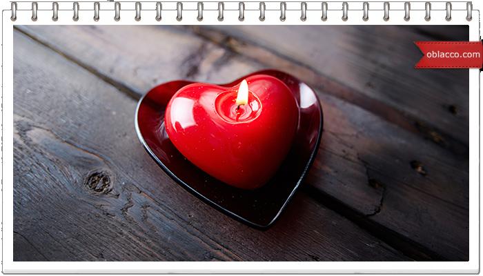 Подсвечник с сердечком ко дню Святого Валентина