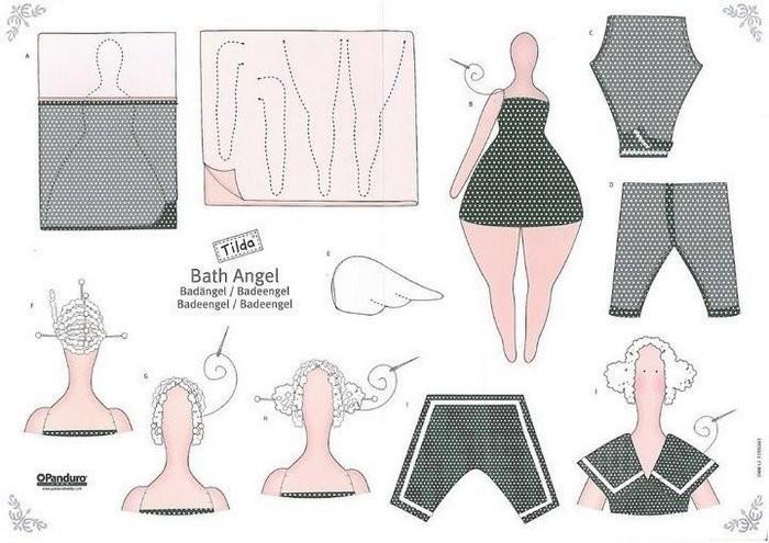 схема шитья куклы тильда
