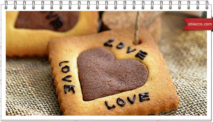 Печенье-валентинка с сердечком внутри