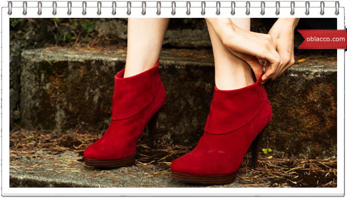 Красная обувь, колор шик