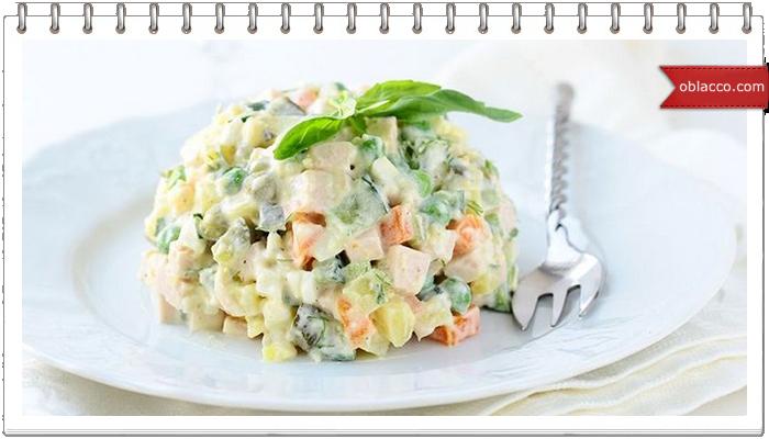 """Постный салат """"Оливье"""""""