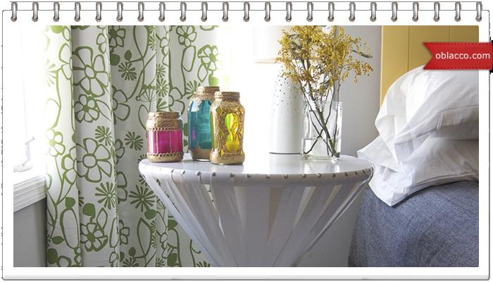 Прикроватный столик с тканью