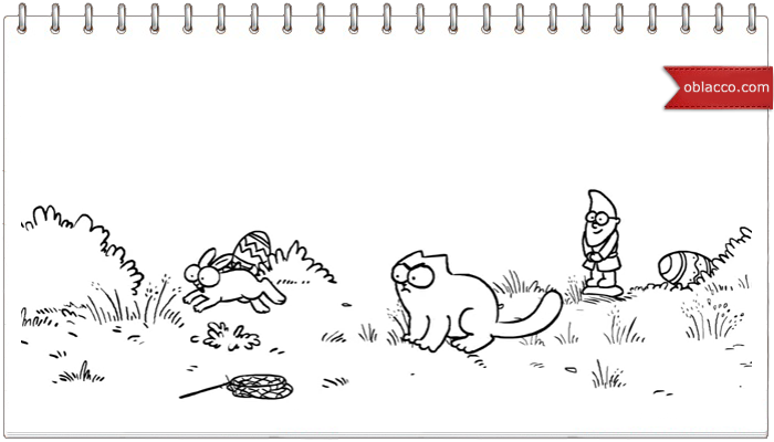 Год в жизни кота. Simon's Cat